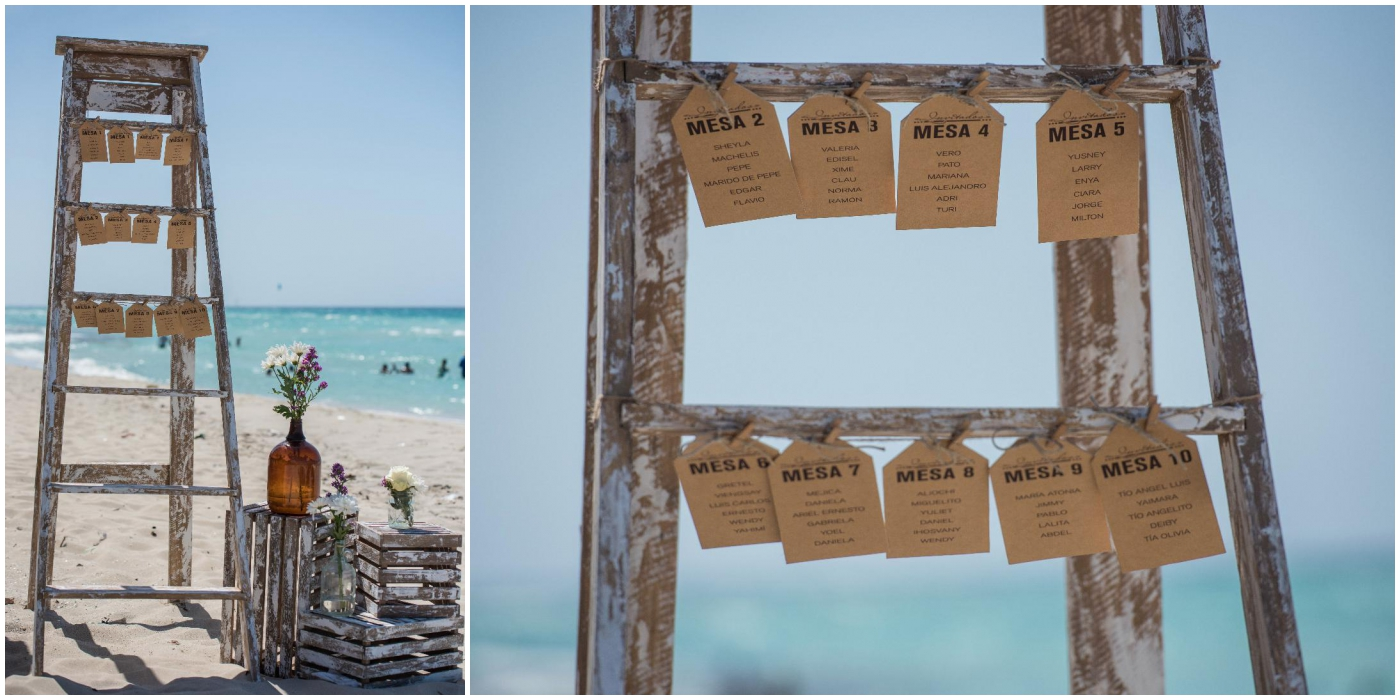 rustic varadero beach wedding seating chart